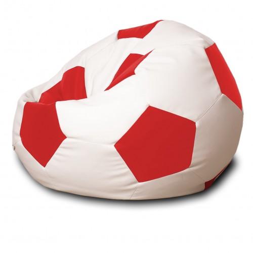 Кресло мешок Мяч Красный / Белый