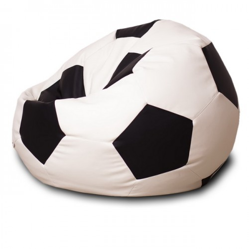 Кресло мешок Мяч Черный / Белый