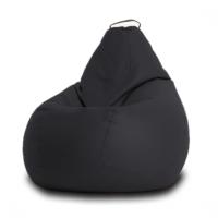 Кресло мешок Кожа Черный