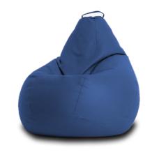 Кресло мешок Кожа Синий
