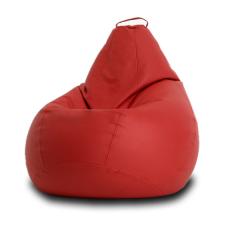 Кресло мешок Кожа Красный