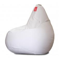Кресло мешок Кожа Белый