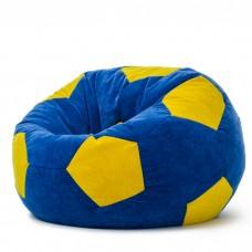Кресло мешок Мяч Велюр Синий