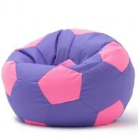 Кресло мешок Мяч Розовый на Сиреневом