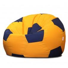Кресло мешок Мяч Синий на Желтом
