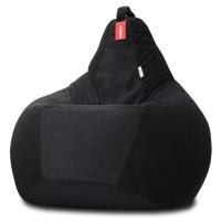 Кресло мешок Велюр Черный