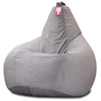 Кресло мешок Велюр Серый