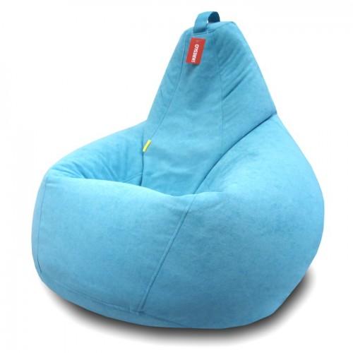 Кресло мешок Велюр Голубой