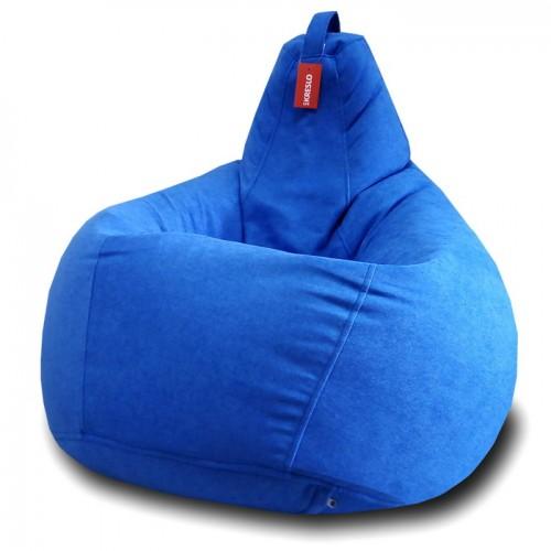Кресло мешок Велюр Синий