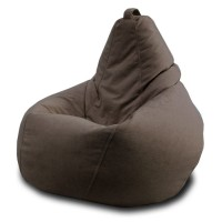 Кресло мешок Велюр Коричневый