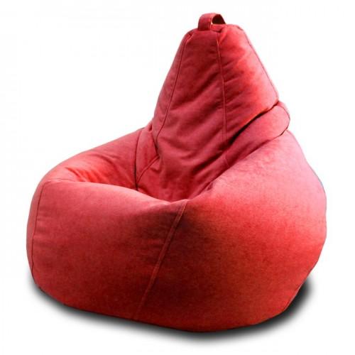 Кресло мешок Велюр Красный