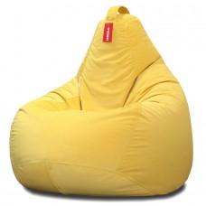 Кресло мешок Велюр Желтый